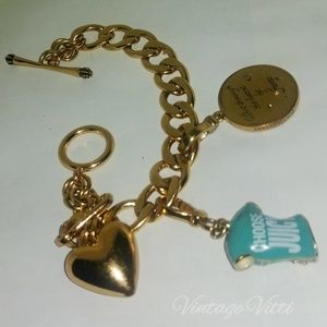 Juicy Couture Jewelry - Juicy Couture DARTBOARD & T SHIRT CHARM BRACELET
